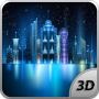 Space City bezmaksas 3D Live Wallpaper