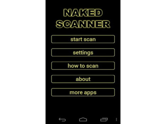 application scanner deshabillant